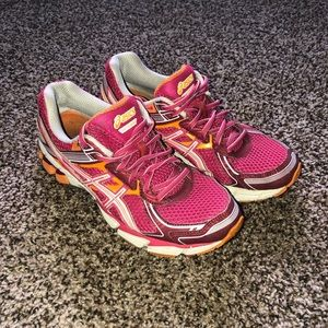 PINK ASICS Running Shoes GT 1000